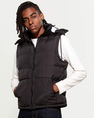 American Stitch Removable Hood Puffer Vest
