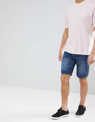 ONLY & SONS Slim Fit Denim Shorts In Washed Blue