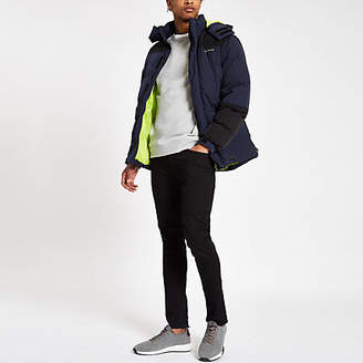 Bellfield color block padded hooded jacket