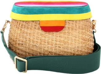 Edie Parker Jane Striped Handbag