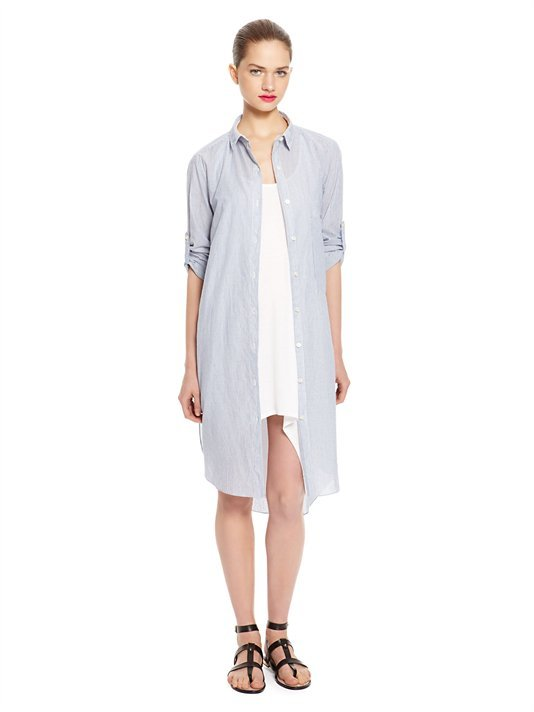 DKNY DKNYpure Stripe Shirt Dress