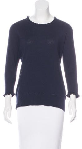 Kate Spade New York Ruffle-Trimmed Knit Sweater