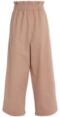 Ganni Cotton-Twill Wide-Leg Pants