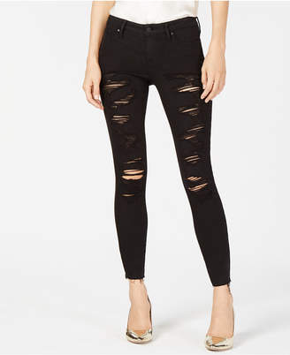KENDALL + KYLIE The Ultra Babe Perfect Ripped Mid-Rise Jeans