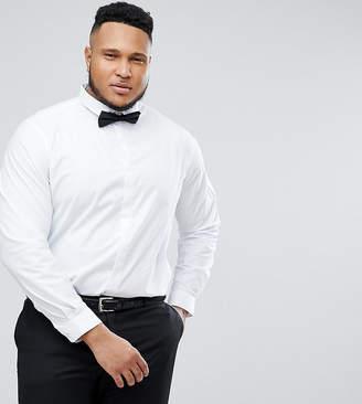Heart & Dagger Plus Size skinny Shirt With Cutaway Collar