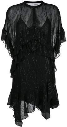 IRO asymmetric ruffle dress