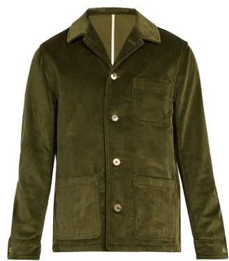 De Bonne Facture - Patch Pocket Cotton Corduroy Jacket - Mens - Green