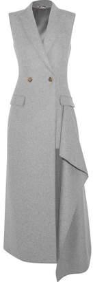 Alexander McQueen Asymmetric Cashmere Gilet - Light gray