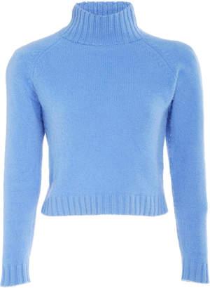 The Elder Statesman Highland Cropped Cashmere Sweater