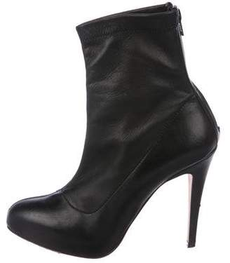 Brian Atwood Leather Round-Toe Boots