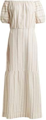 Ace&Jig Quince off-the-shoulder striped cotton dress