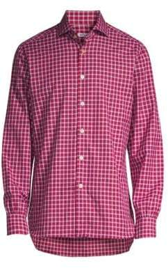 Kiton Classic-Fit Window Plaid Shirt