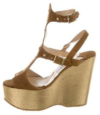 Jimmy Choo Frenzy Studded Wedges w/ Tags