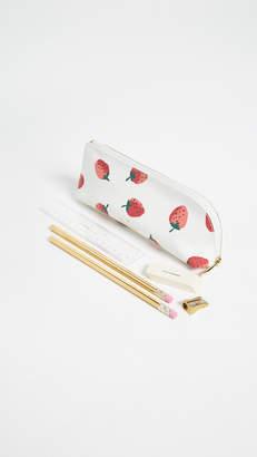 Kate Spade Strawberries Pencil Case