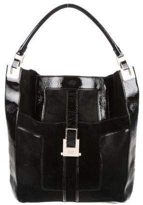Anya Hindmarch Suede & Patent Leather Hobo