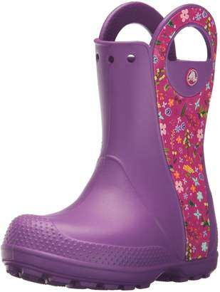 Crocs Handle It Graphic Rain Boot Kids Pull-On Boot