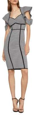 BCBGMAXAZRIA Houndstooth Jacquard Sheath Dress