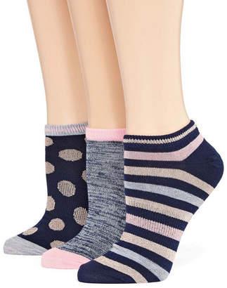 MIXIT Mixit 3 Pair No Show Socks - Womens