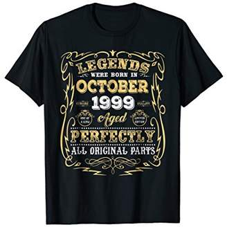 Legends born in October 1999 19th Awesome Birthday Shirt
