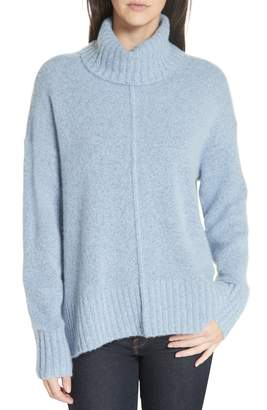 Nordstrom Signature Cashmere Boucle High/Low Turtleneck