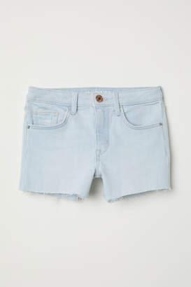 H&M Denim Shorts High - Blue