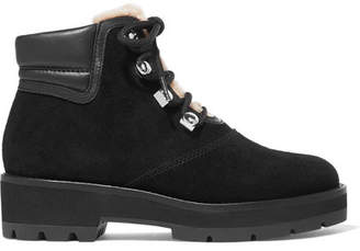 3.1 Phillip Lim Dylan Shearling-lined Suede And Leather Ankle Boots - Black