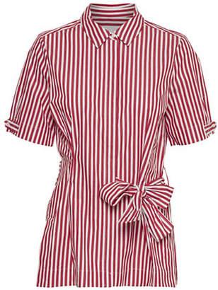InWear Polina Stripe Cotton Kimono Shirt