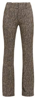 Chloé High Rise Zipped Cuff Tweed Trousers - Womens - Grey Multi