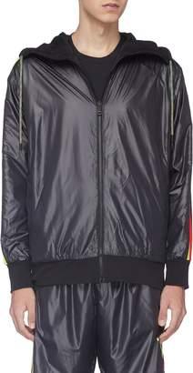 adidas x Oyster Holdings '48 Hour' 3-Stripes sleeve reversible zip hoodie
