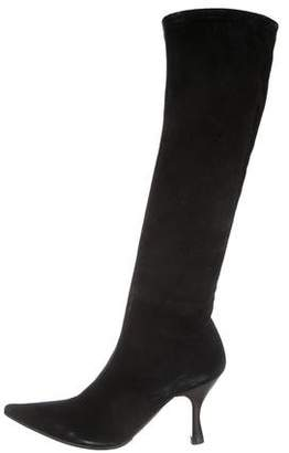 Sergio Rossi Pointed-Toe Mid-Heel Boots