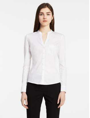 Calvin Klein cotton modal mandarin collar top