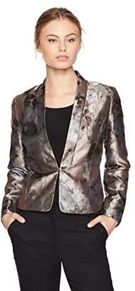 Kasper Women's Petite Kiss Front Floral Jacket