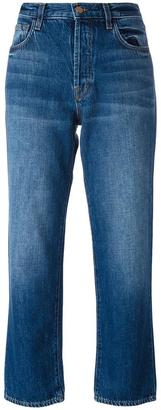 J Brand straight cropped jeans $252.66 thestylecure.com