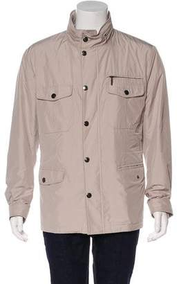 Canali Lightweight Hooded Utility Jacket w/ Tags