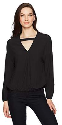 Monrow Women's Crossover Top W/Choker Strap