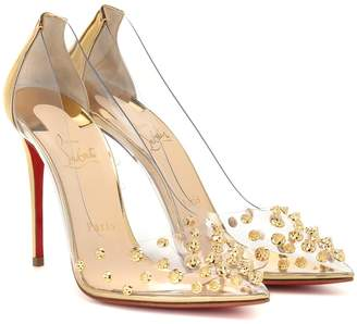 Christian Louboutin Collaclou 100 embellished PVC pumps