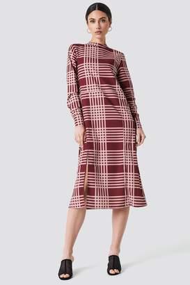 NA-KD Na Kd High Neck Cut Line Midi Dress