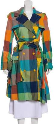 Marc Jacobs Sunshine Check Long Coat w/ Tags