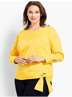 Talbots Poplin Side-Tie Top