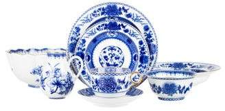Mottahedeh 62-Piece Imperial Blue Table Service