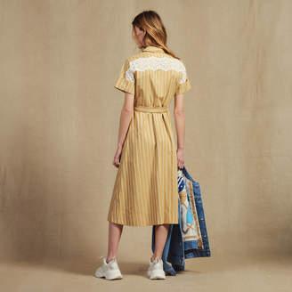 Sandro Striped Short-Sleeved Shirt Dress