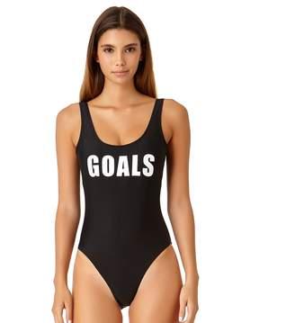 """Juniors' California Sunshine """"Goals"""" One-Piece Swimsuit"""
