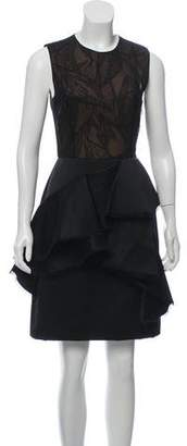 Jason Wu Lace-Trimmed Knee-Length Dress
