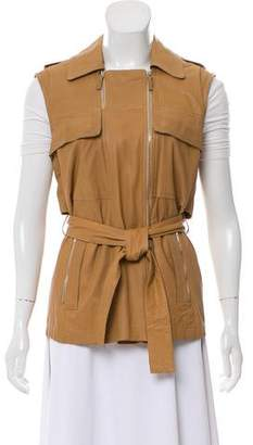 Gucci Belted Leather Vest