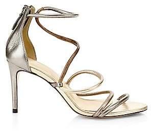 Alexandre Birman Women's Gianny Metallic Stiletto Sandals