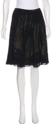 Michael Kors Silk Layered Skirt