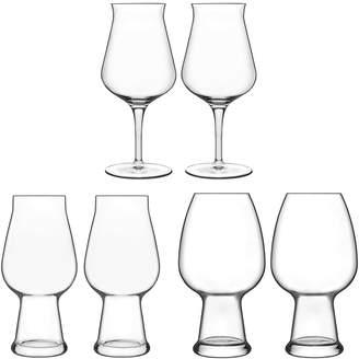 Luigi Bormioli Birrateque 6-Piece Beer Glass Set