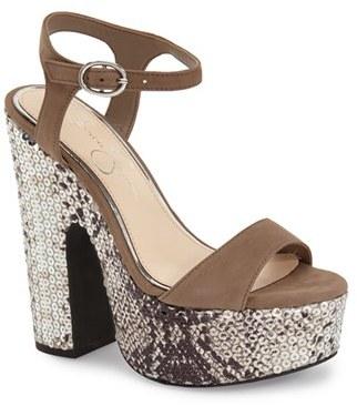 Women's Jessica Simpson 'Whirl' Platform Sandal $118.95 thestylecure.com