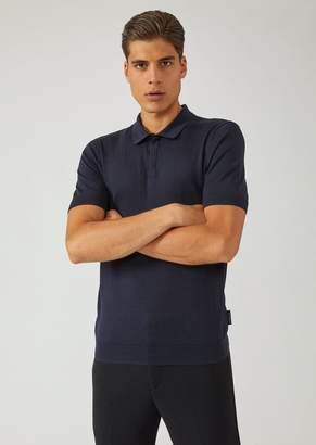 Emporio Armani Short-Sleeved Polo Shirt In Single Jersey