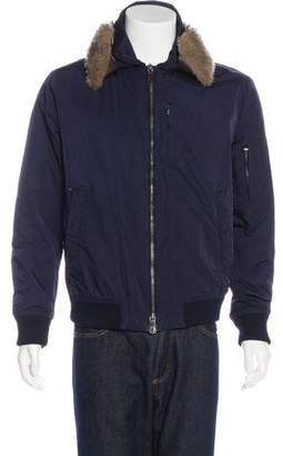 Gucci Shearling-Trimmed Bomber Jacket